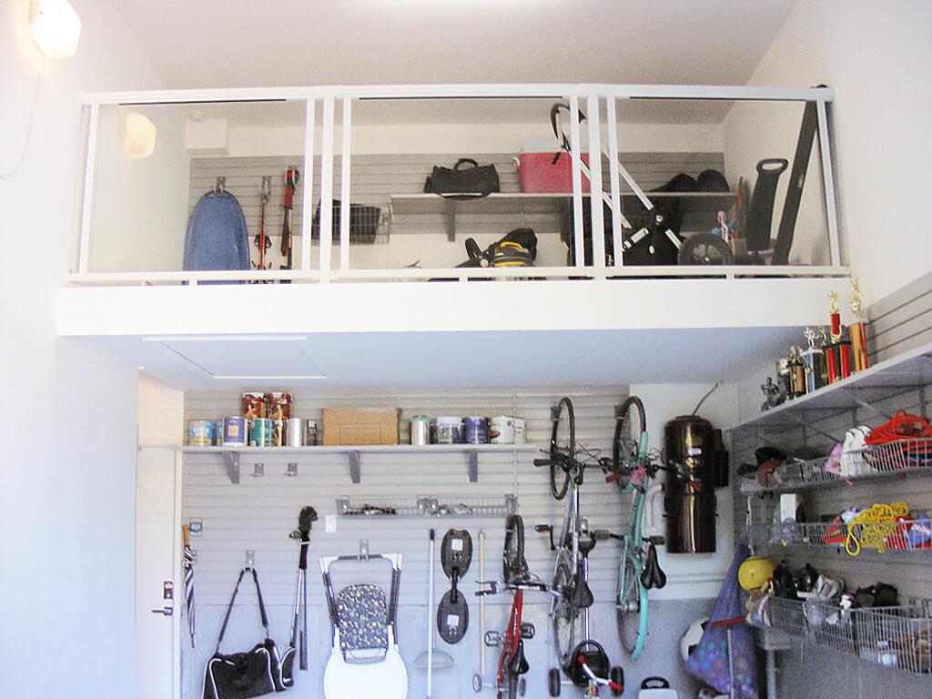 1 car garage central toronto attic mezzanine overhead storage for 1 5 storey garage nuvo garage. Black Bedroom Furniture Sets. Home Design Ideas