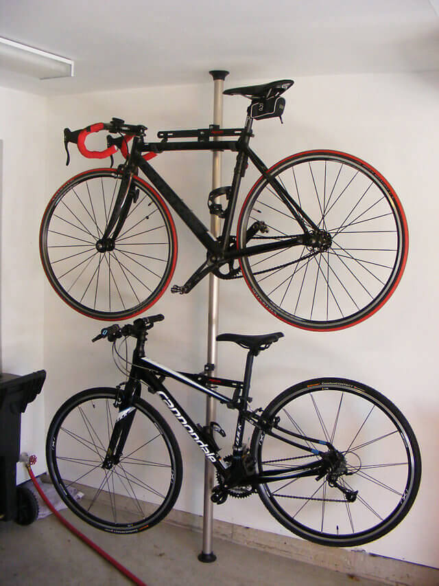 2 Bike Horizontal Pole Storage Nuvo Garage