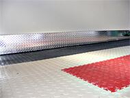2 Car Garage Stouffville Pvc Floor Tiles Punched Aluminum Baseboard