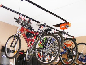 bike storage solutions - bicycle storage ceiling lift