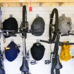 bike storage solutions - slatwall hooks, bicycle wall rack, custom overhead