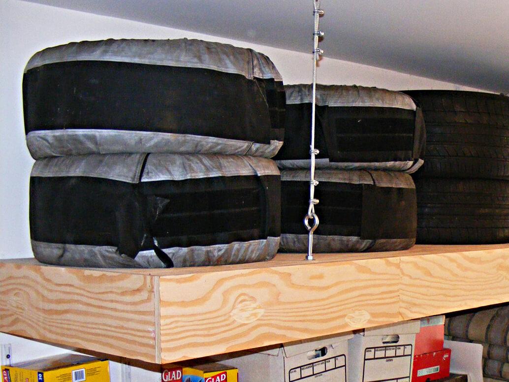 how to build garage storage overhead | Quick Woodworking ...