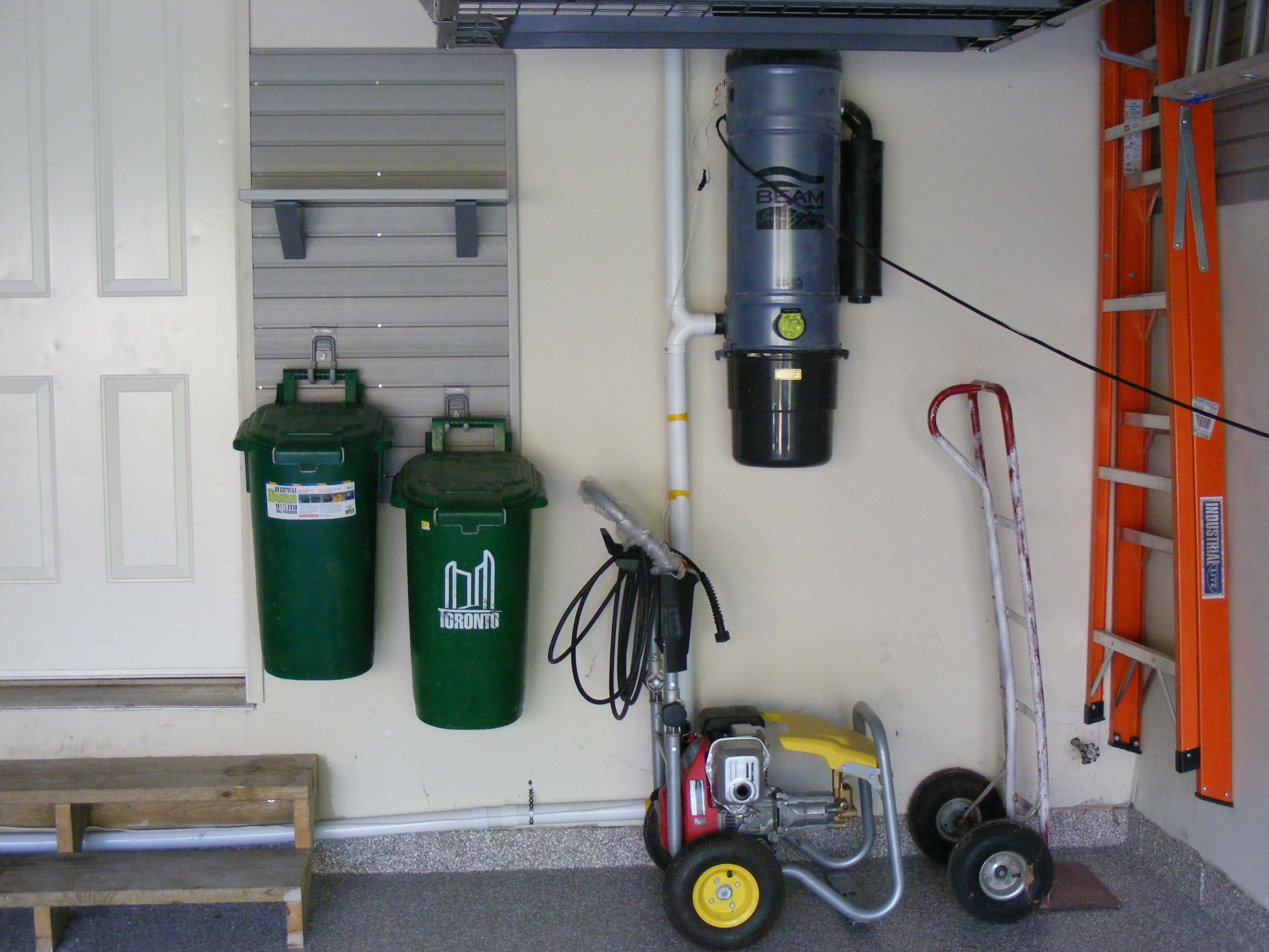 recycle bin ideas garage - Recycling and Garbage Bin Storage — Nuvo Garage
